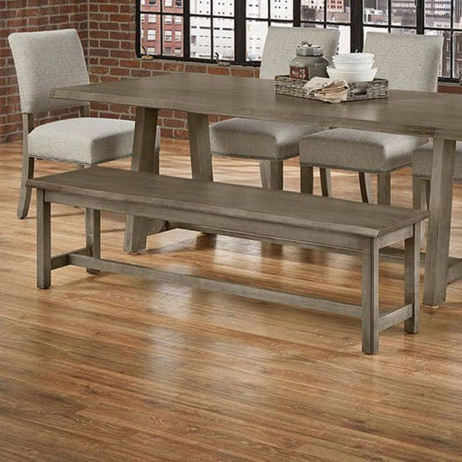 Simply Dining 68 Inch Live Edge Top Bench Grey By Vaughan Bassett Furniturepick