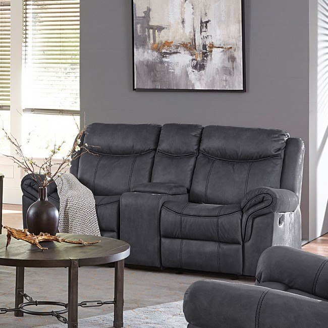 knoxville reclining loveseat w console charcoal