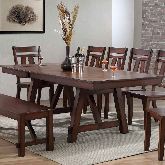 View Cherry Wood Dining Table PNG