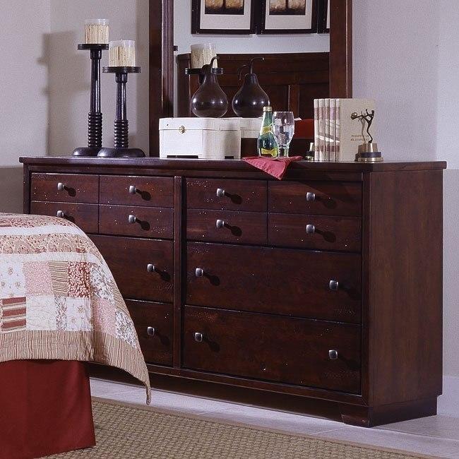 Diego Dresser Espresso Pine By Progressive Furniture Furniturepick