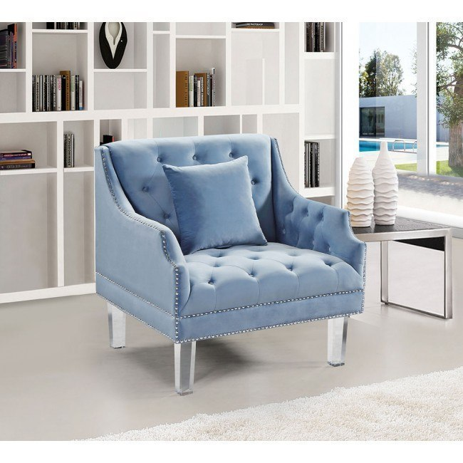 Roxy Chair Sky Blue By Meridian Furniture Furniturepick