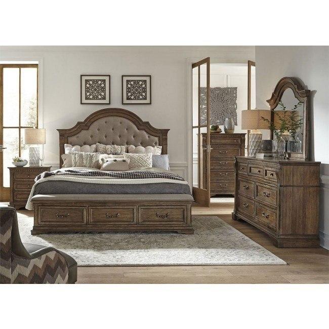 Haven Hall Upholstered Storage Bedroom Set By Liberty Furniture Furniturepick