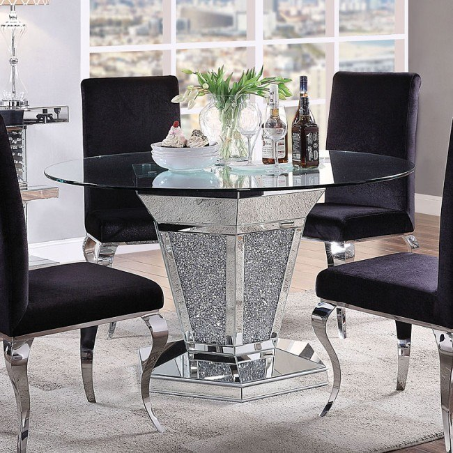 Noralie Round Dining Table By Acme Furniture Furniturepick