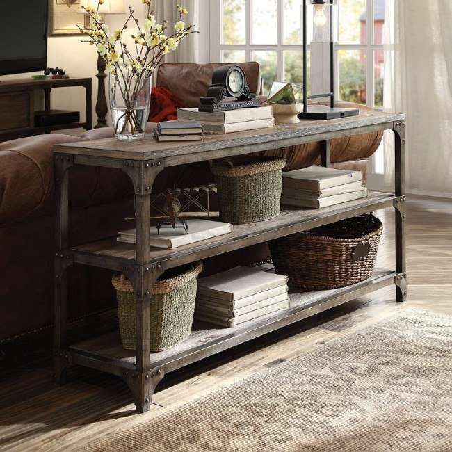 Gorden 60 Inch Server Console Table By Acme Furniture Furniturepick