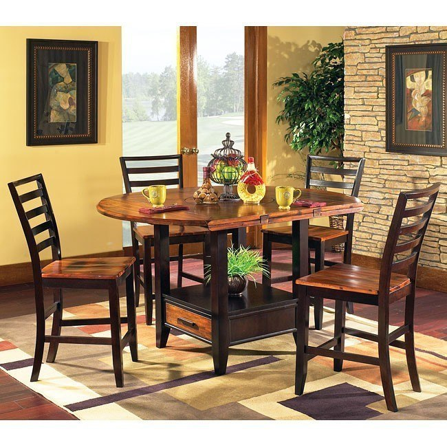Abaco Storage Counter Height Dining Set By Steve Silver Furniture Furniturepick