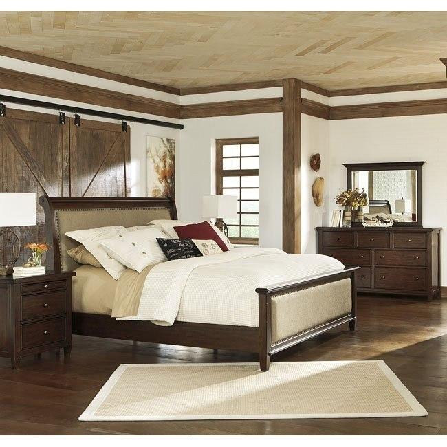 Hindell Park Bedroom Set W Upholstered Bed Signature Design By Ashley Furniture Furniturepick
