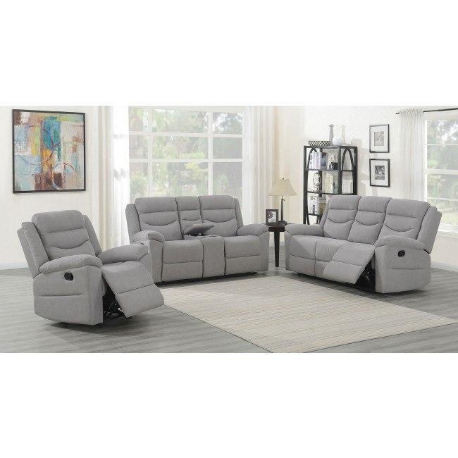 Chenango Reclining Living Room Set Light Gray By Steve Silver Furniture Furniturepick