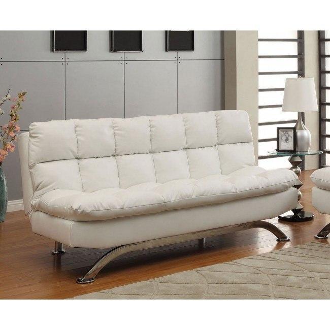 Aristo Sofa Bed White By Furniture Of America Furniturepick