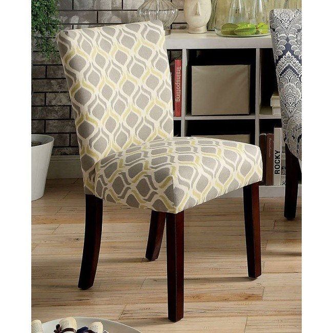 Prue Yellow and Gray Accent Chair (Set of 2) by Furniture ...
