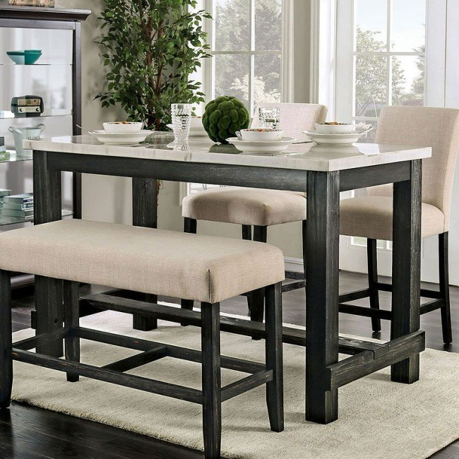 Brule Counter Height Table By Furniture Of America Furniturepick