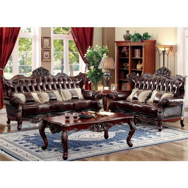 Jericho Living Room Set By Furniture Of America Furniturepick