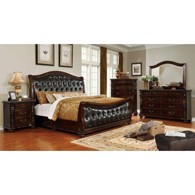 Fort Worth Sleigh Bedroom Set By Furniture Of America Furniturepick