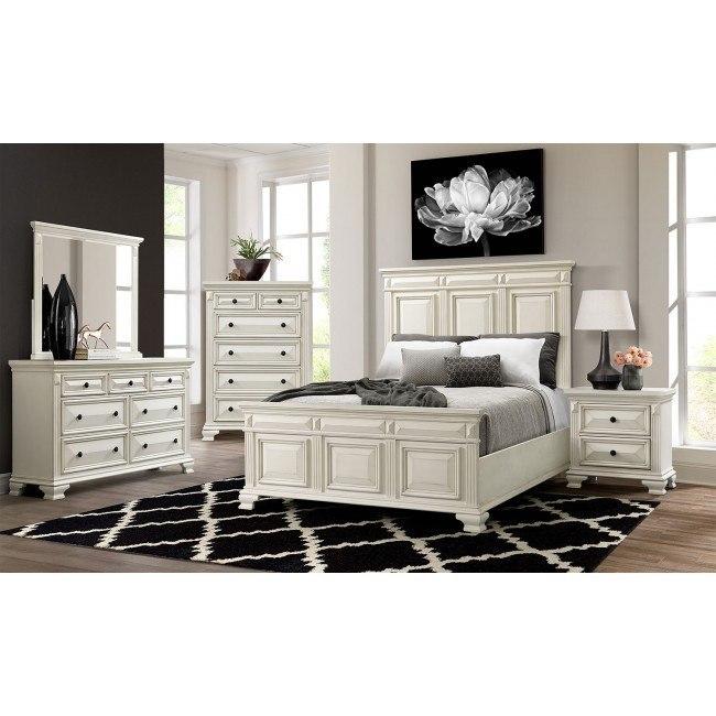 Calloway Bedroom Set White By Elements Furniture Furniturepick