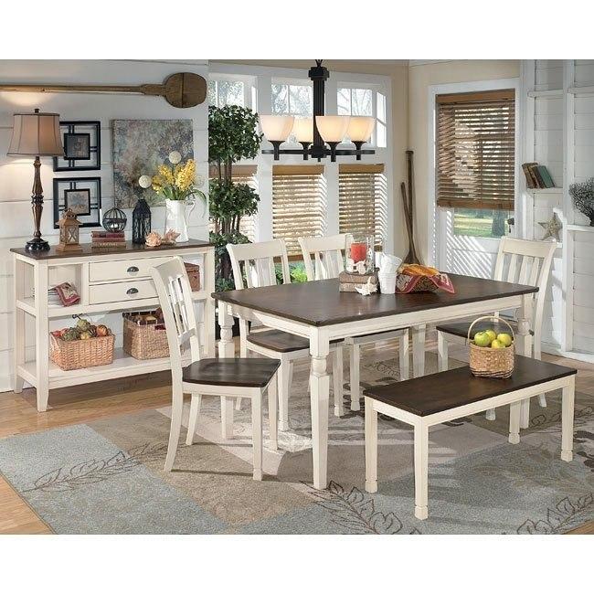 Whitesburg Dining Room Set W Bench Signature Design By Ashley Furniturepick