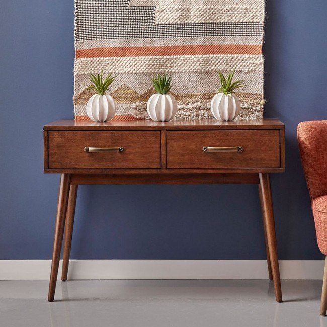 Draper Mid Century Modern Console Table By Pulaski Furniture Furniturepick