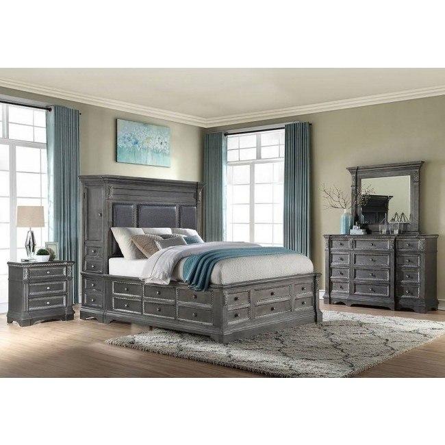 Marseille Storage Bedroom Set Grey By Global Furniture Furniturepick