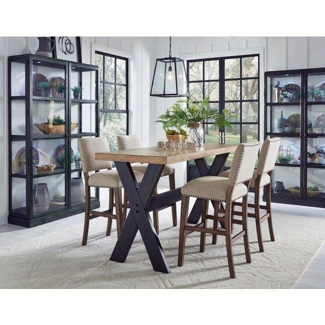The Art Of Dining Narrow Bar Height Dining Room Set By Pulaski Furniture Furniturepick