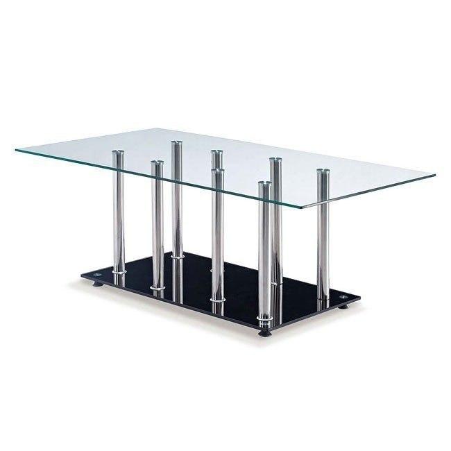 T368 Clear And Black Coffee Table Global Furniture Furniturepick