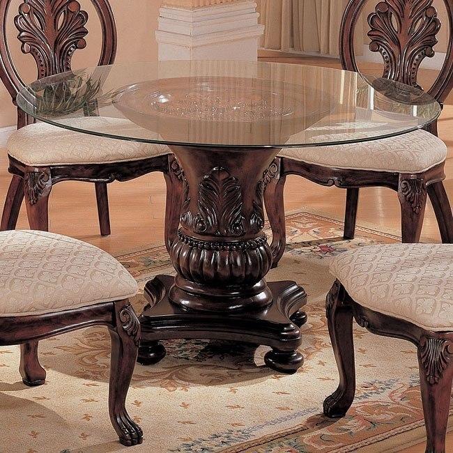 Tabitha 48 Inch Round Glass Table Coaster Furniture Furniturepick