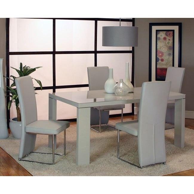Venice Dining Room Set Light Gray Cramco Furniturepick