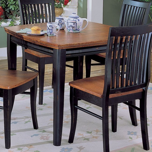 Liz Dining Table With Shaped Top Two Tone Homelegance Furniturepick