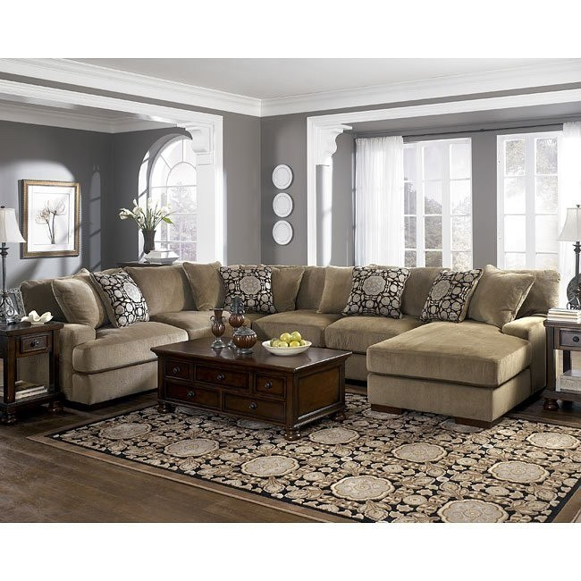 Grenada - Mocha Large Sectional Living Room Set Signature ...