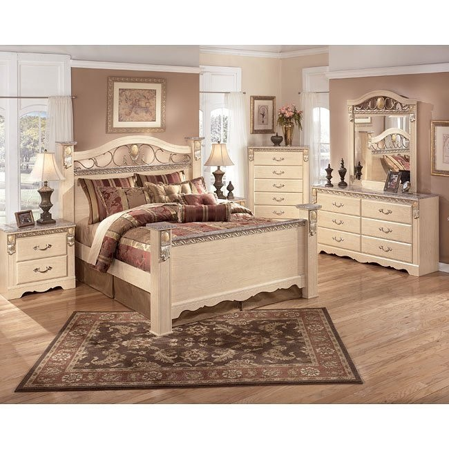 Sanibel Poster Bedroom Set Signature Design By Ashley Furniture Furniturepick,Blue Wall Living Room Design