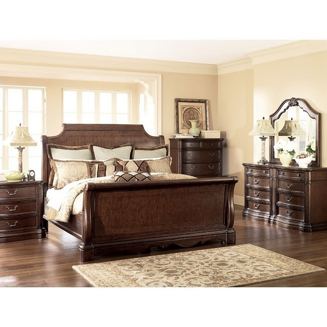 Camilla Sleigh Bedroom Set Signature Design By Ashley Furniture Furniturepick