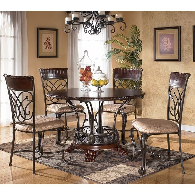 Alyssa Round Dining Room Set Signature Design By Ashley Furniture Furniturepick
