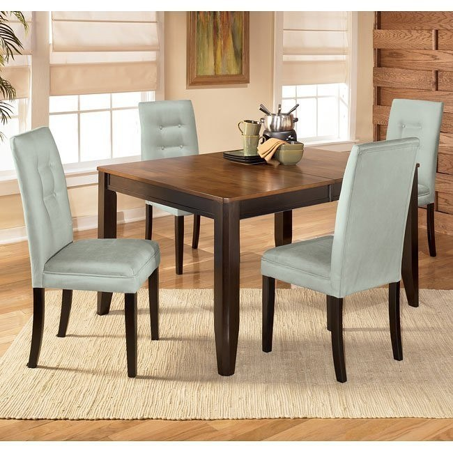 Alonzo Dining Room Set With Newbold Spa Chairs Signature Design By Ashley Furniture Furniturepick