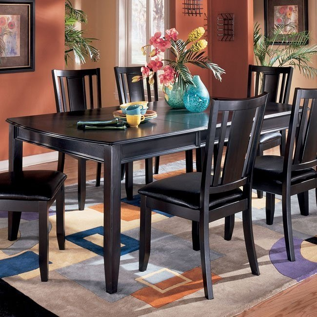 Carlyle Rectangular Extension Table Signature Design By Ashley Furniture Furniturepick