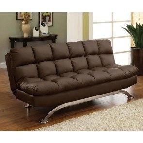 Aristo Sofa Bed Black By Furniture Of America Furniturepick