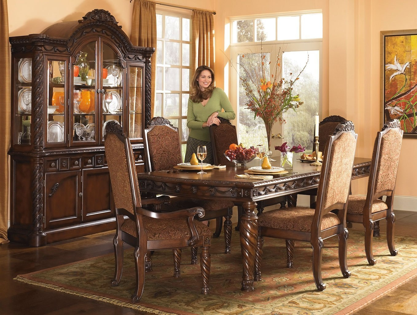 North Shore Rectangular Dining Room Set Signature Design By Ashley Furniture Furniturepick