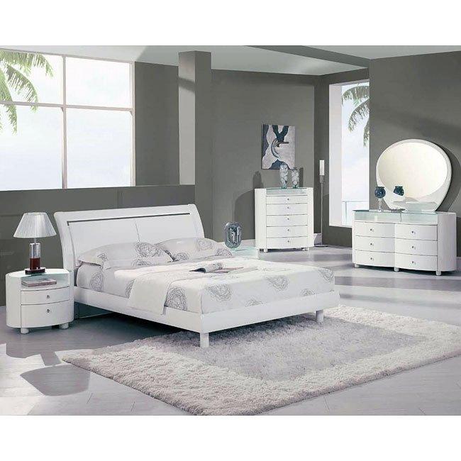 Emily White Platform Bedroom Set Global Furniture Furniturepick