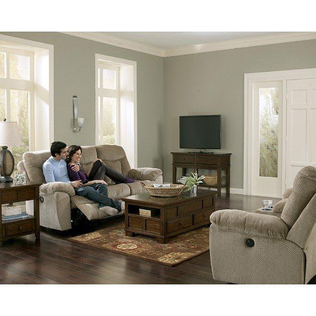 Grimsby Mushroom Living Room Set w/ Power Signature Design ...