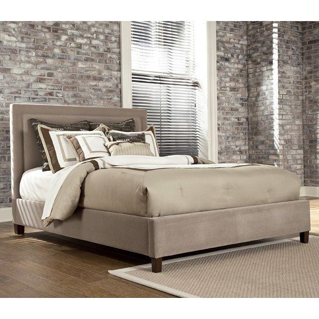Naomi Bedroom Set W Beige Upholstered Bed Signature Design By Ashley Furniture Furniturepick