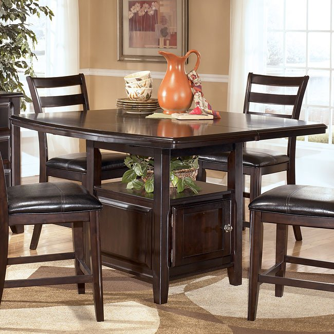 Ridgley Counter Height Table W Storage Signature Design By Ashley Furniture Furniturepick
