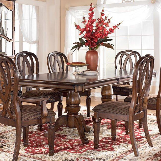 Hamlyn Pedestal Dining Table Signature Design By Ashley Furniture Furniturepick