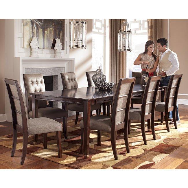 Larimer Dining Room Set W Extension Table Signature Design By Ashley Furniture Furniturepick