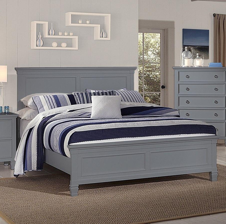 Tamarack Panel Bedroom Set Gray By New Classic Furniture