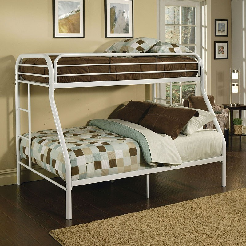 Tritan Twin Xl Over Queen Bunk Bed White Kids And Youth