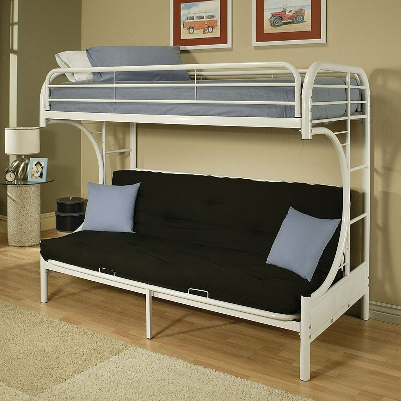 Eclipse Twin Xl Over Queen Futon Bunk Bed White