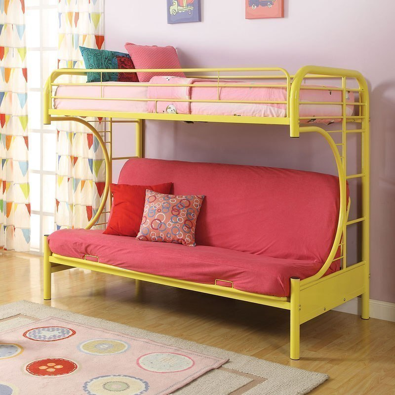 Eclipse Twin Over Full Futon Bunk Bed Yellow Kids And Youth