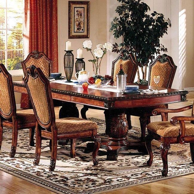 Acme Furniture Chateau De Ville 7 Piece Formal Dining Set: Chateau De Ville Double Pedestal Table By Acme Furniture