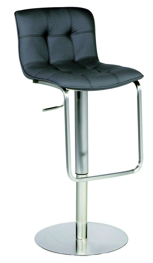 Black Pneumatic Gas Lift Adjustable Height Swivel Stool By