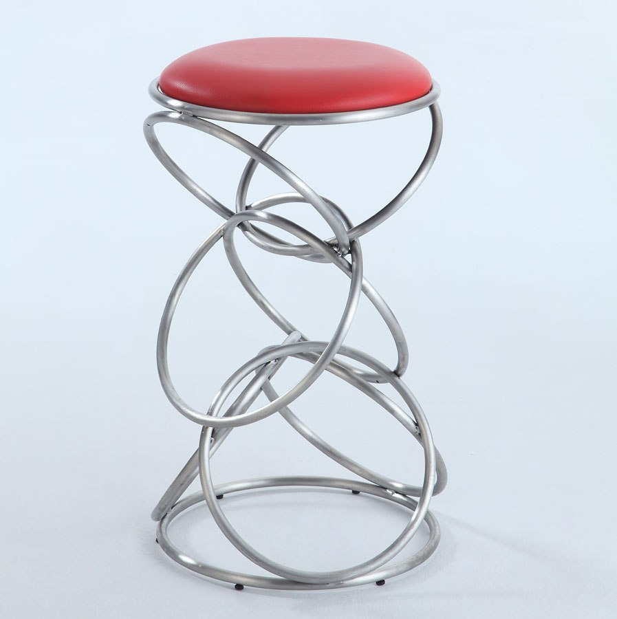 Interlocking Multi Ring Counter Height Stool Red By