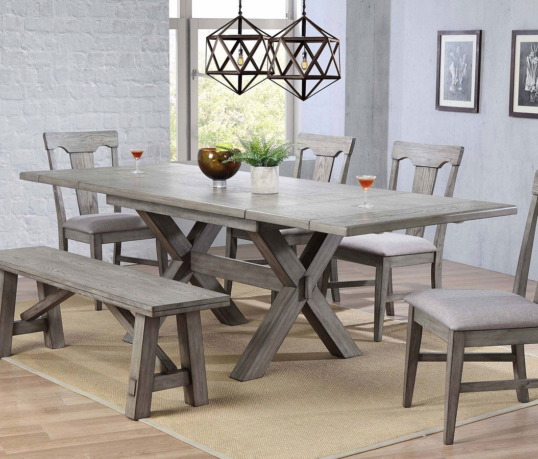 Trestle Dining Room Table: Graystone Trestle Dining Room Set By ECI Furniture, 1