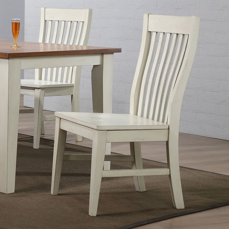 Antique White Mission Back Side Chair (Set of 2) - Antique White Mission Back Side Chair (Set Of 2) - Dining Room And