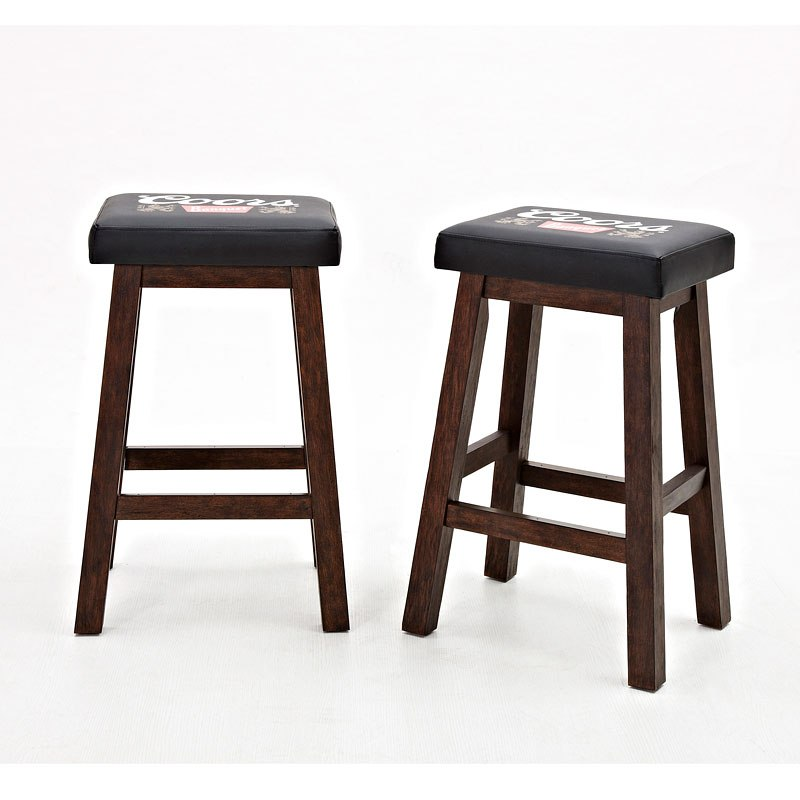 Coors Banquet 30 Inch Saddle Stool Set Of 2