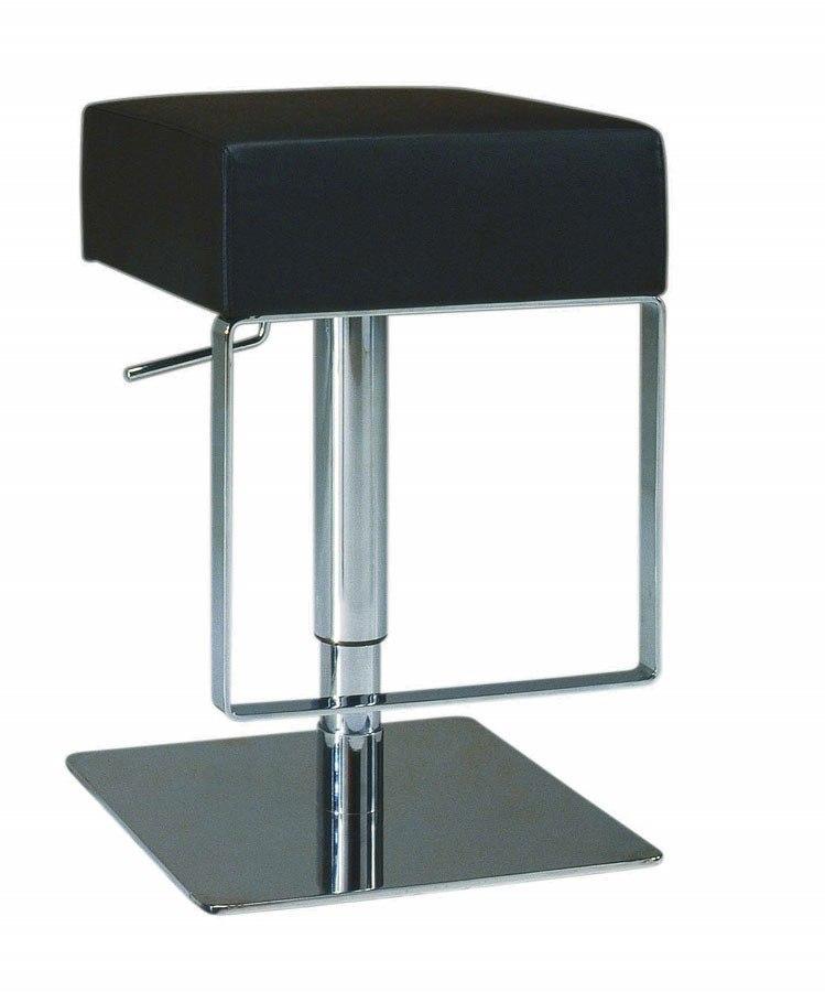 Pneumatic Gas Lift Adjustable Height Swivel Stool Black
